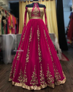 Pink indowestern cocktail gown