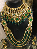 Green stone bridal necklace