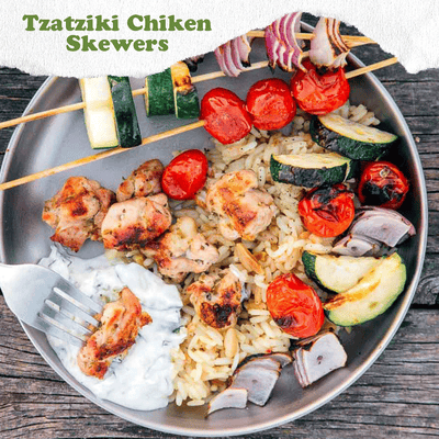Tzatziki Grilled Chicken Kabob