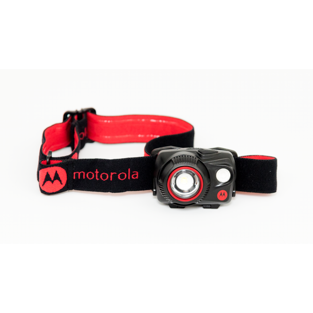 Motorola MHP580 580-Lumen LED IP64 Water-Resistant Adjustable Beam Focus and Rechargeable LUMO Headlamp Red