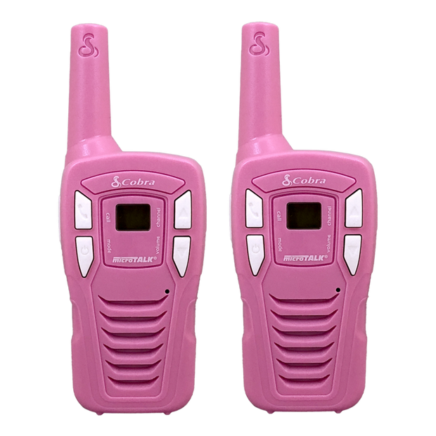 Cobra CX131A 18-Mile Kids Two-Way Radio/Walkie Talkie Pink