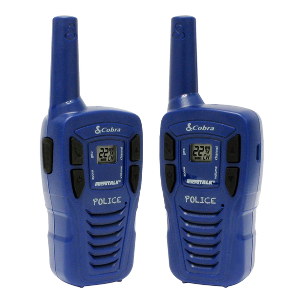 Cobra HE146 16-Mile Power Saving Two-Way Radio/Walkie Talkie Blue