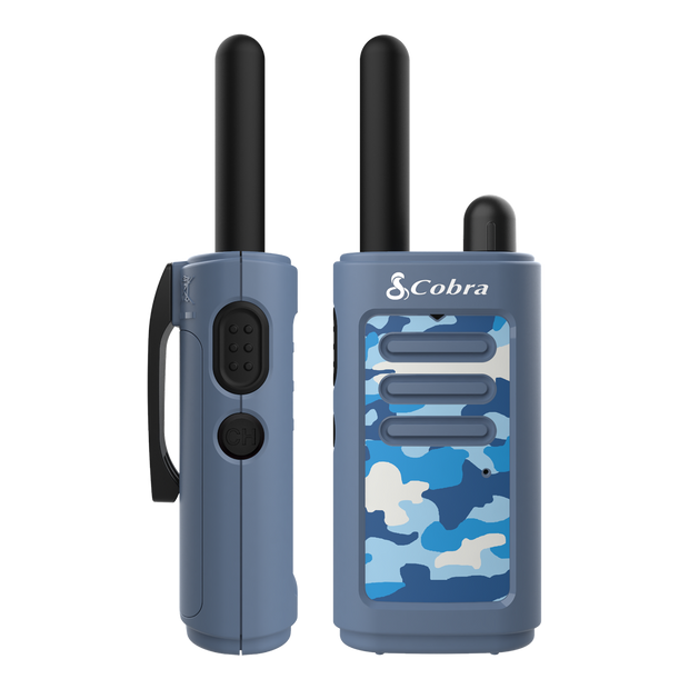 Cobra HE150B 16-Mile Kids Two-Way Radio/Walkie Talkie Camo Blue