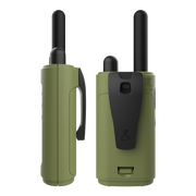 Cobra HE150G6P 16-Mile Compact Two-Way Radio/Walkie Talkie with LED Flashlight & Headlamp Bundle Camo Green
