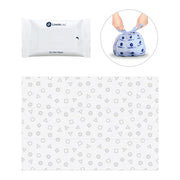 3-in-1 Disposable Diaper Changing Kits: Wet Wipes + Changing Mat + Diaper Sack, Single