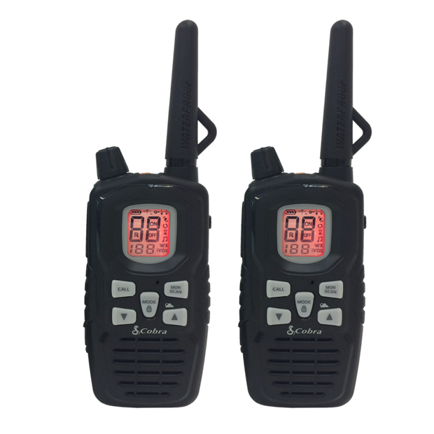 Cobra CXY900 Rechargeable Waterproof 40-Mile Two-Way Radio Walkie Talkies