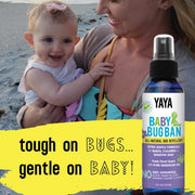 YaYa Organics BABY BUG BAN All-Natural Bug Repellent for Babies, Children, Sensitive Skin 4 oz