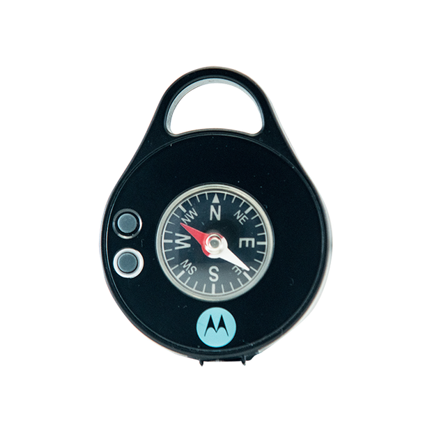 Motorola PB320 20+ Lumen Water Resistant IPX4 Rechargeable Clip-On 5 Hour LED PEBL Light with Compass