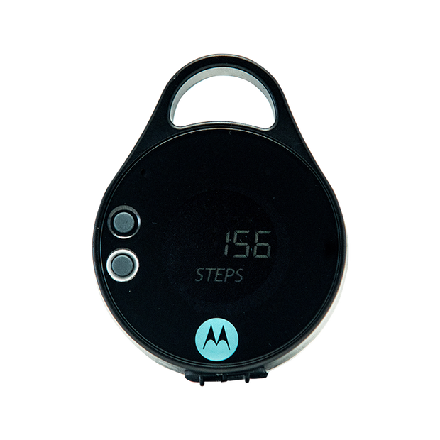 Motorola PB350 20+ Lumen Water Resistant IPX4 Rechargeable Clip-On 5 Hour LED PEBL Light with Pedometer