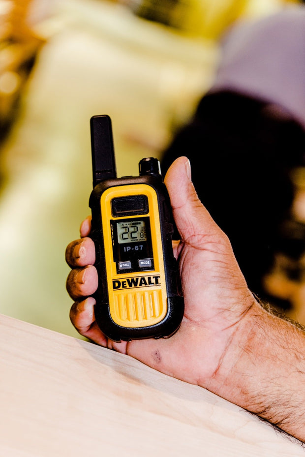 DEWALT DXFRS300 20-Floor Heavy Duty Waterproof Business Two-Way Radio/Walkie Talkie Yellow/Black