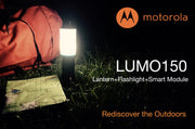 Motorola MSL150 Outdoor 150-Lumen Rechargeable LED Flashlight + LUMO Lantern Combo with Thermometer and Compass