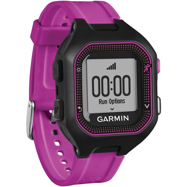 Forerunner(R) 25 GPS Running Watch (Small; Black/Purple)