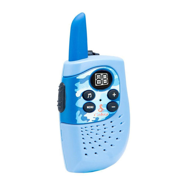 Cobra HE130B Kids 16-Mile Blue Camo Two Way Radio/Walkie Talkie