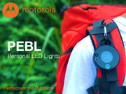 Motorola PB330 20+ Lumen Water Resistant IPX4 Rechargeable Clip-On 5 Hour LED PEBL Light with UV Sensor