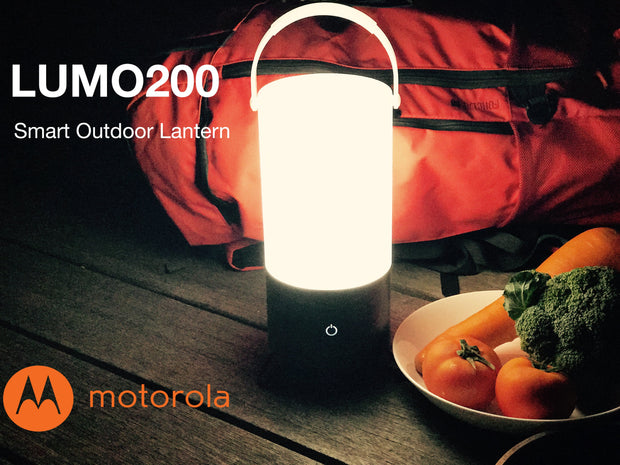 Motorola MSL200 200-Lumen Smart Color Changing Outdoor Bluetooth LED with USB Charging Power Bank LUMO Lantern