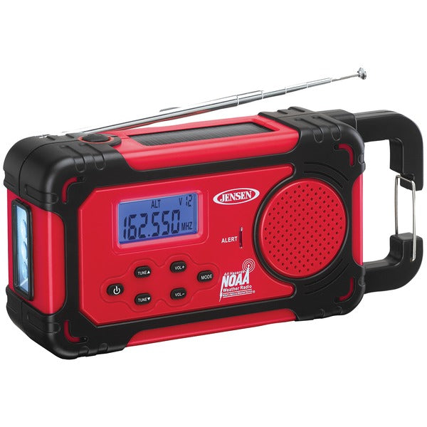 AM/FM Weather Band Clock Radio with 4-Way Power & Built-in Flashlight