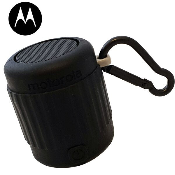 Motorola MS120 2.6W Hands Free Micro Ultra-Portable IPX7 Waterproof Wave Bluetooth Speaker Black