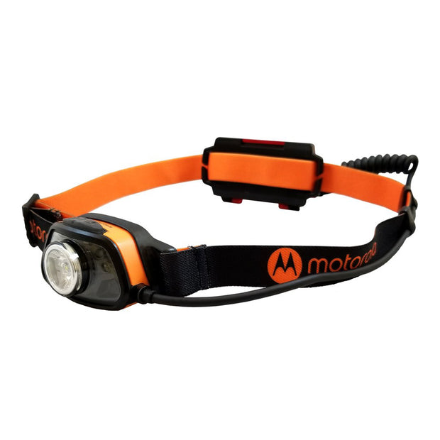 Motorola MHC250 250-Lumen Waterproof LED with Motion Sensor and Rechargeable LUMO Headlamp Red