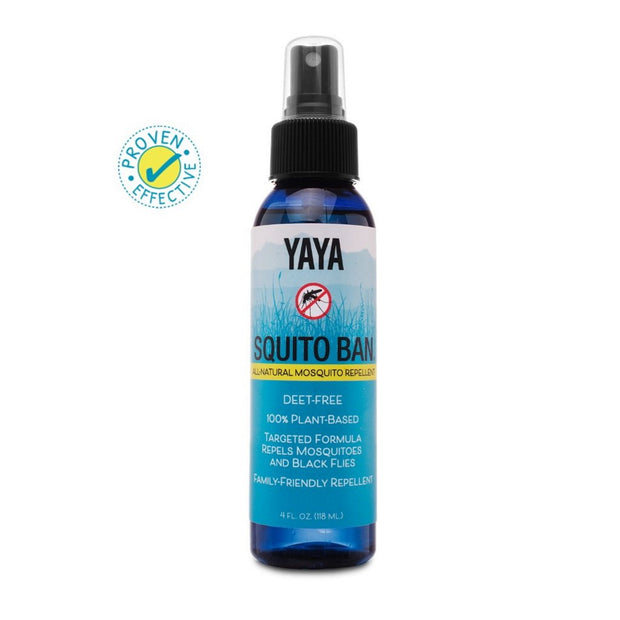 YaYa Organics SQUITO BAN All-Natural Mosquito Repellent 4 oz