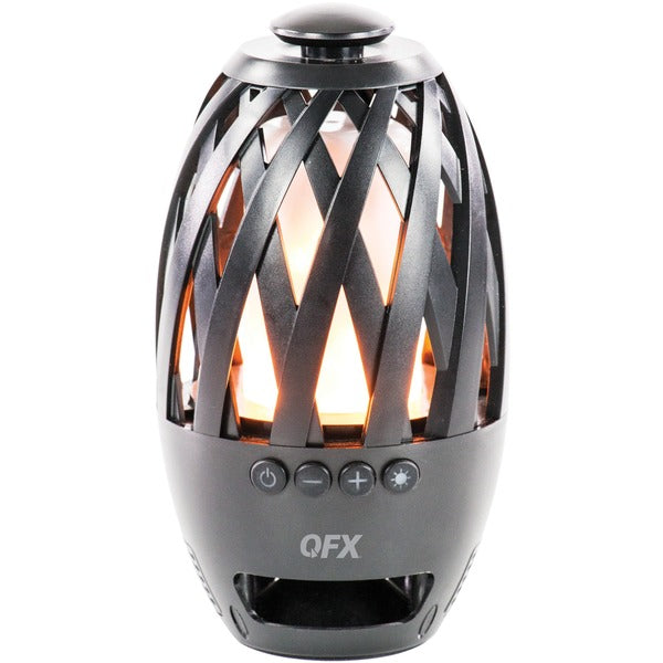 QFX BT-350 Flame-LED Water-Resistant Table-Top Bluetooth Speaker