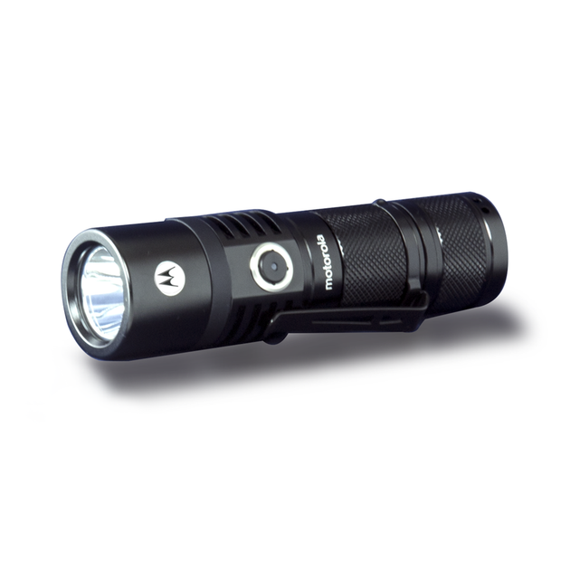 Motorola MR535 500-Lumen IPX7 Water-Resistant Rechargeable LED Lightweight ReLED Flashlight Black