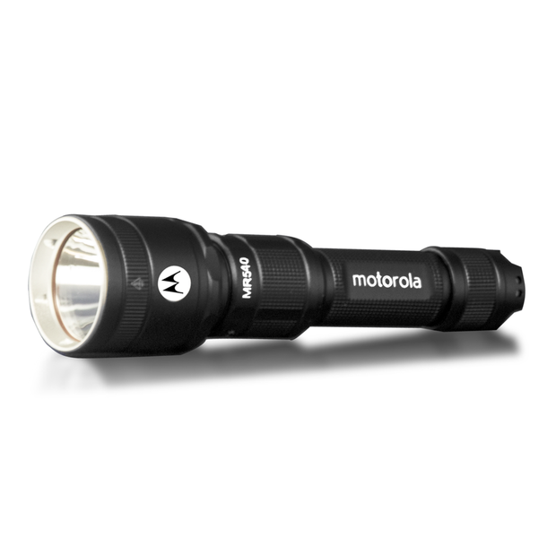 Motorola MR540 600-Lumen IPX6 Water-Resistant Rechargeable LED Lightweight ReLED Flashlight Black