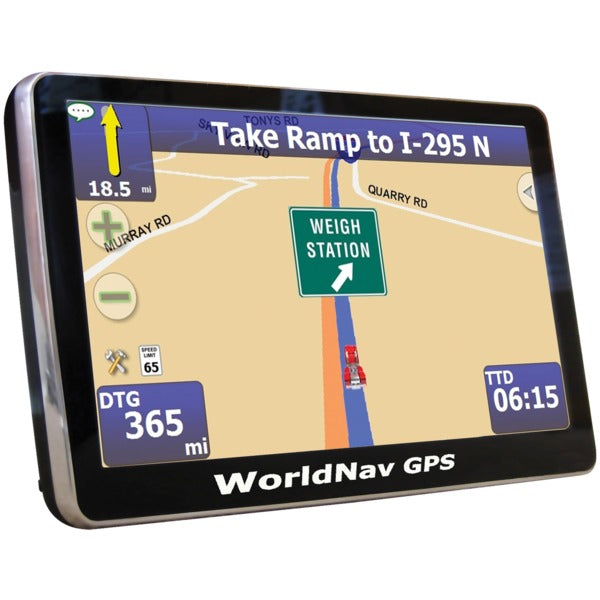WorldNav 4100 Portable 4-Inch Truck GPS Device
