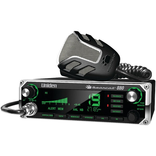 40-Channel Bearcat 880 CB Radio with 7-Color Display Backlighting
