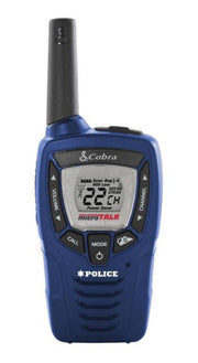 Cobra CX396A 25-Mile Weather Resistant Two-Way Radio/Walkie Talkie Police Blue (Pair)