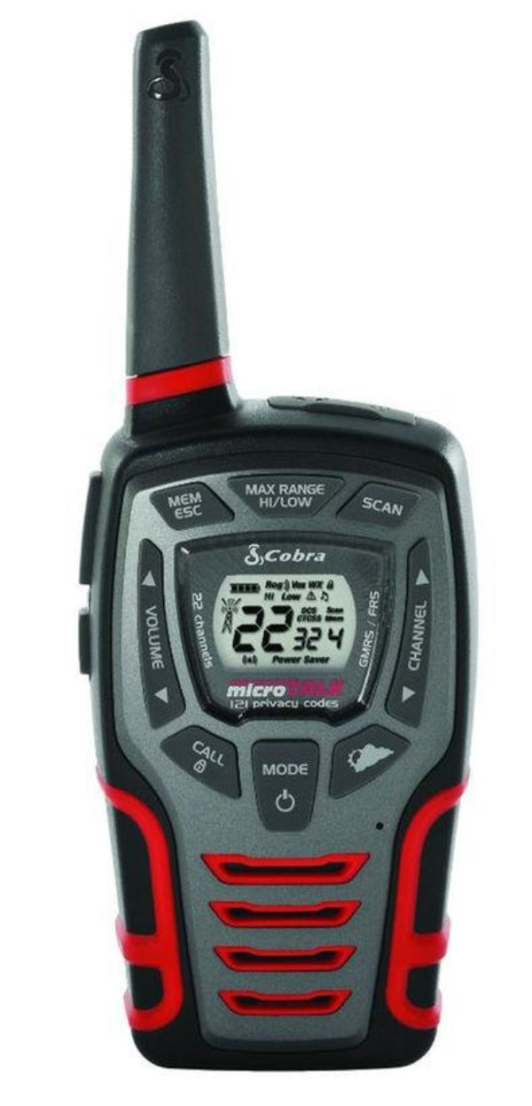 Cobra CXT531 32-Mile Water Resistant IPX2 Two-Way Radio/Walkie Talkie