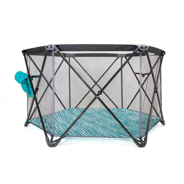 Baby Delight Go With Me – Haven Portable Play Yard – Ocean Waves in Teal