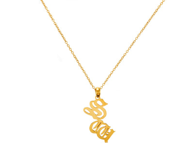 Personalised Double Gothic Initial Necklace