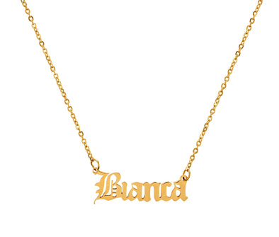 Personalised Gothic Name Necklace