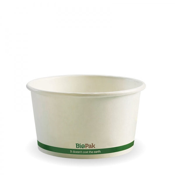 Biopak White BioBowl 430ML / 12OZ