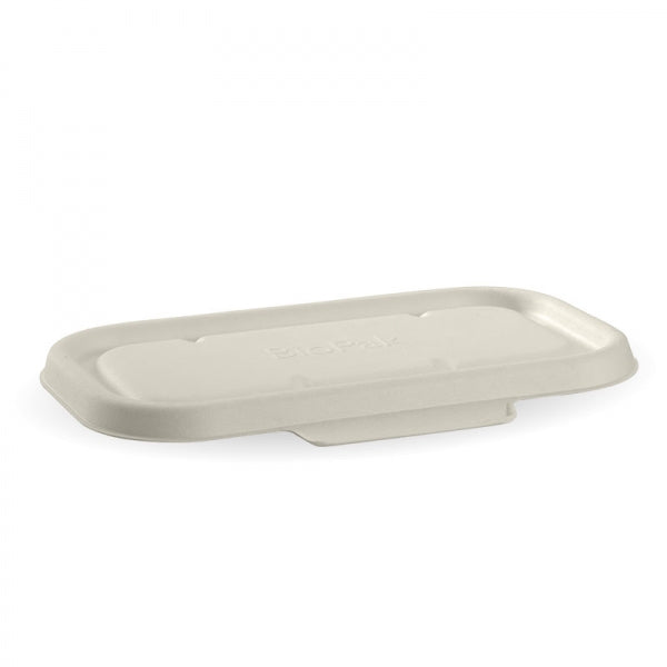 Biopak White Biocane Takeaway Base Lid - 750 & 1,000ML