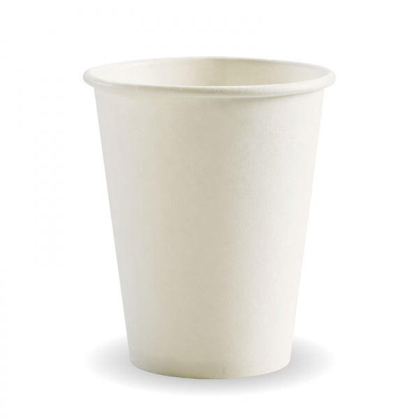 Biopak Biocup White Single Wall 280ML/8OZ (80mm)