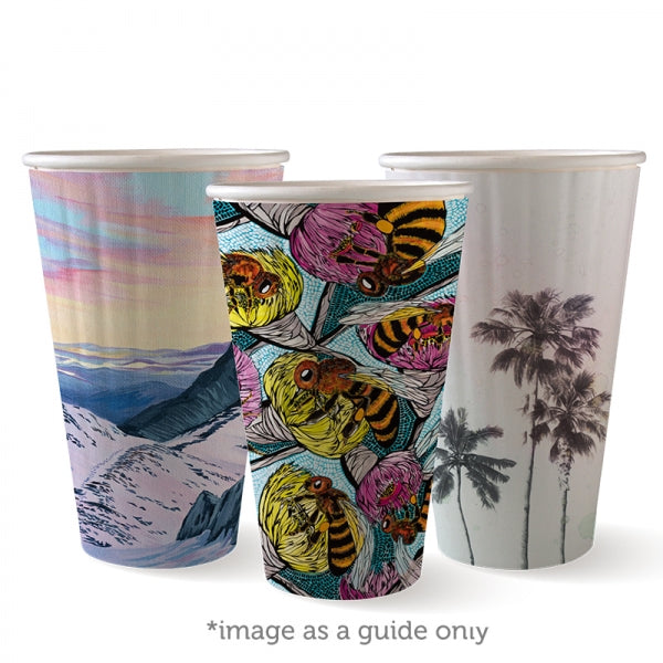 Biopak Biocup Art Series Double Wall 460ML/16OZ (90mm)