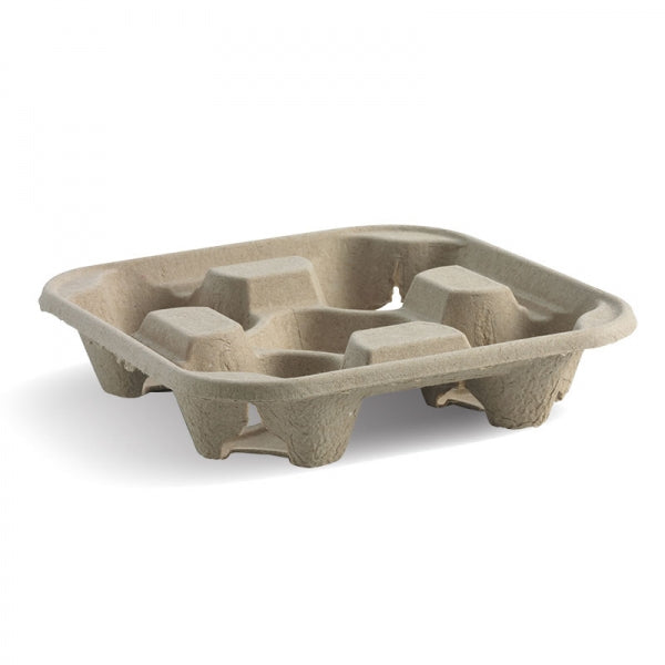 Biopak BioCup Tray - 4 cup tray