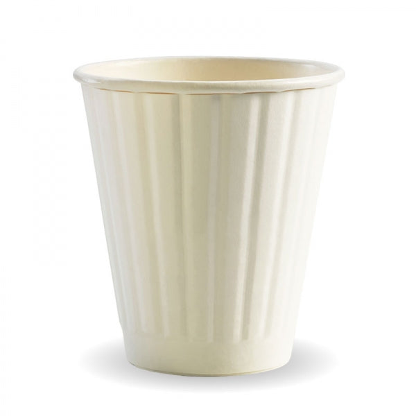 Biopak Biocup White Double Wall 295ML/8OZ (90mm)