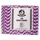 Eco Paper Straw - Regular Purple/White