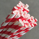 Eco Paper Straw - Regular Red/White