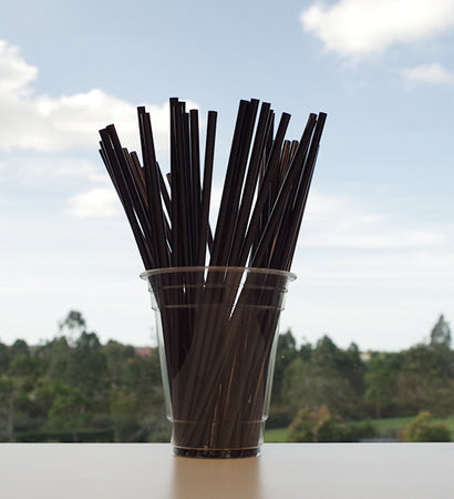 Ecostraw - Cocktail Straw Black
