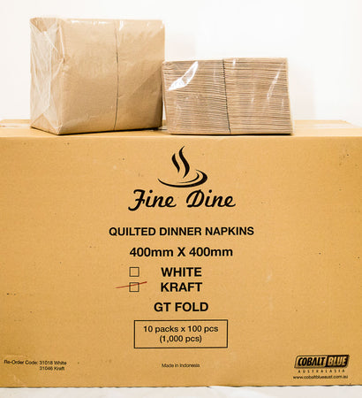 Napkins - Quilted Dinner GT Kraft