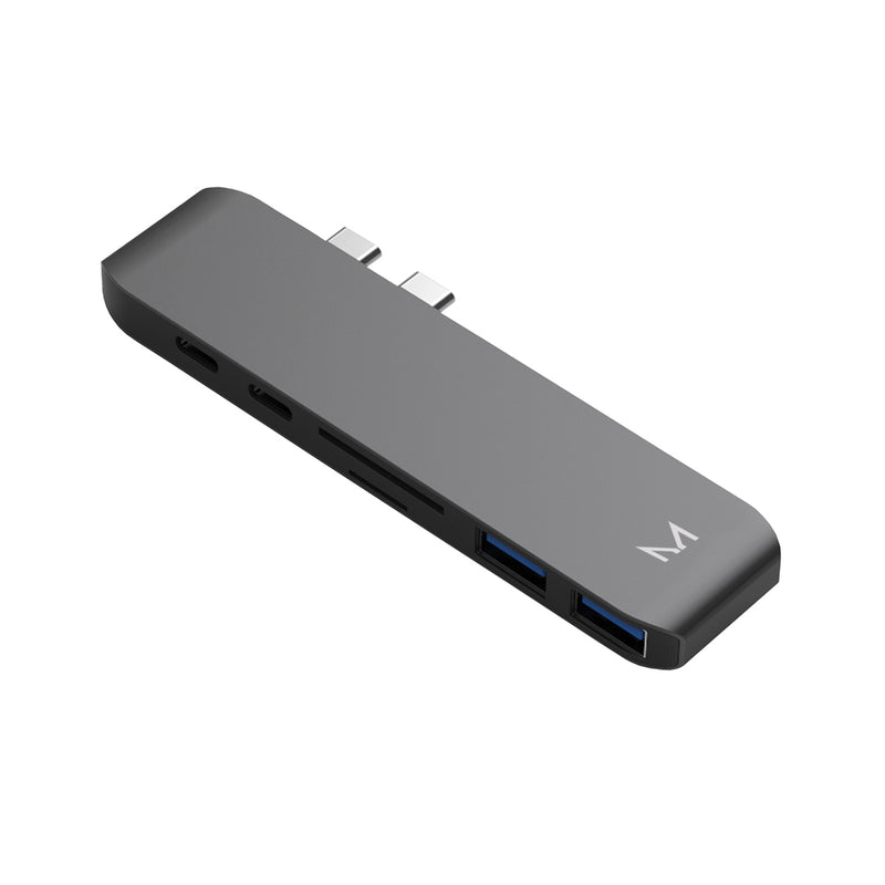 lynk | x2 USB-C Adapter HDMI+x2 USB+USB-C+TB3+TF/SD-SG | Space Grey
