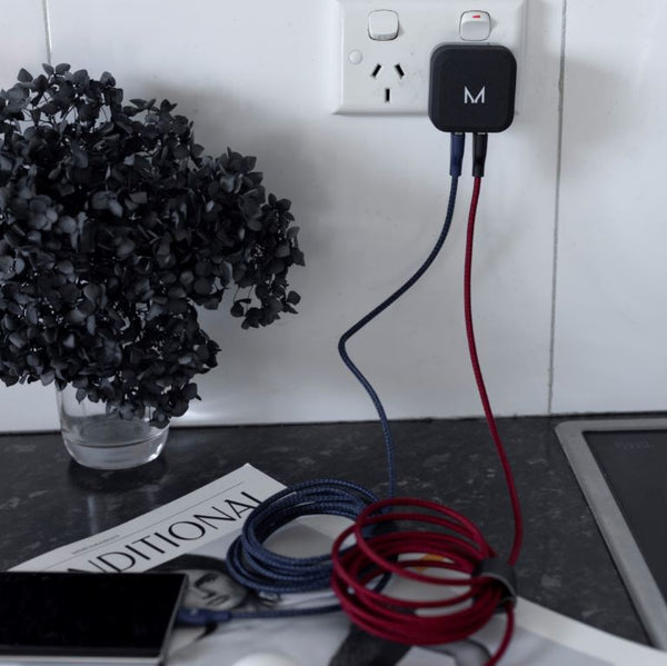 Dual Quick Charge Wall Charger + Cable bundle