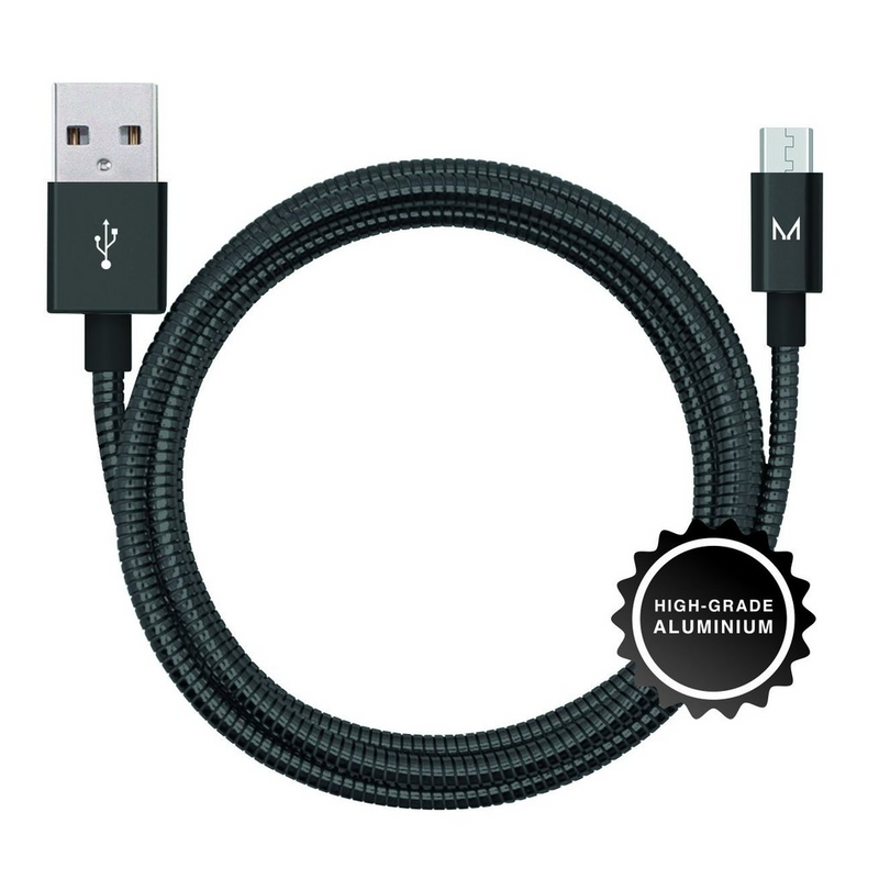 lumo micro-usb charge & sync cable</br>raven black - MOYORK CO