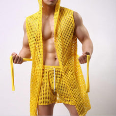 Fish-In-The-Net Bathrobe - Men Monster [product_variant]
