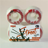 Reckless Wheels CIB Street 55mm | 98a | 4 Pack | White Red (Limit of 4)