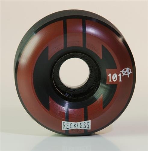 Reckless Wheels CIB Ramp 58mm | 101a | 4 Park | Black Red
