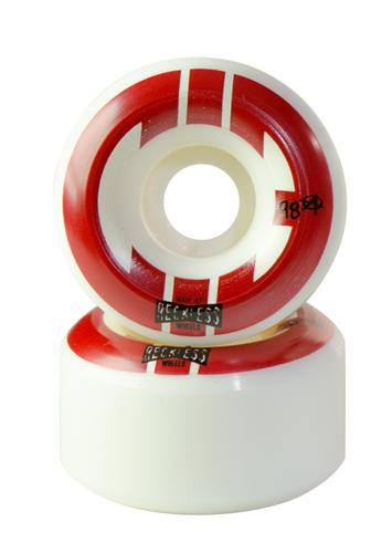 Reckless Wheels CIB Street 55mm | 98a | 4 Pack | White Red